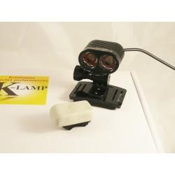 Kit complet avec télécommande sans fil Trail, VTT, vélo 1600lm Noir